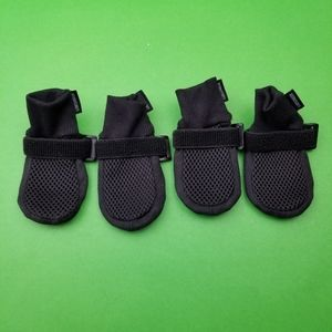 LONSUNEER Black Dog Boots Breathable Paw Protector